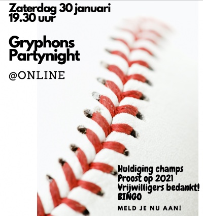 Gryphons Party Night - Meld je aan!!